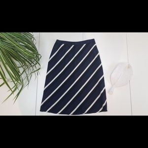 Banana Republic Silk Striped Skirt